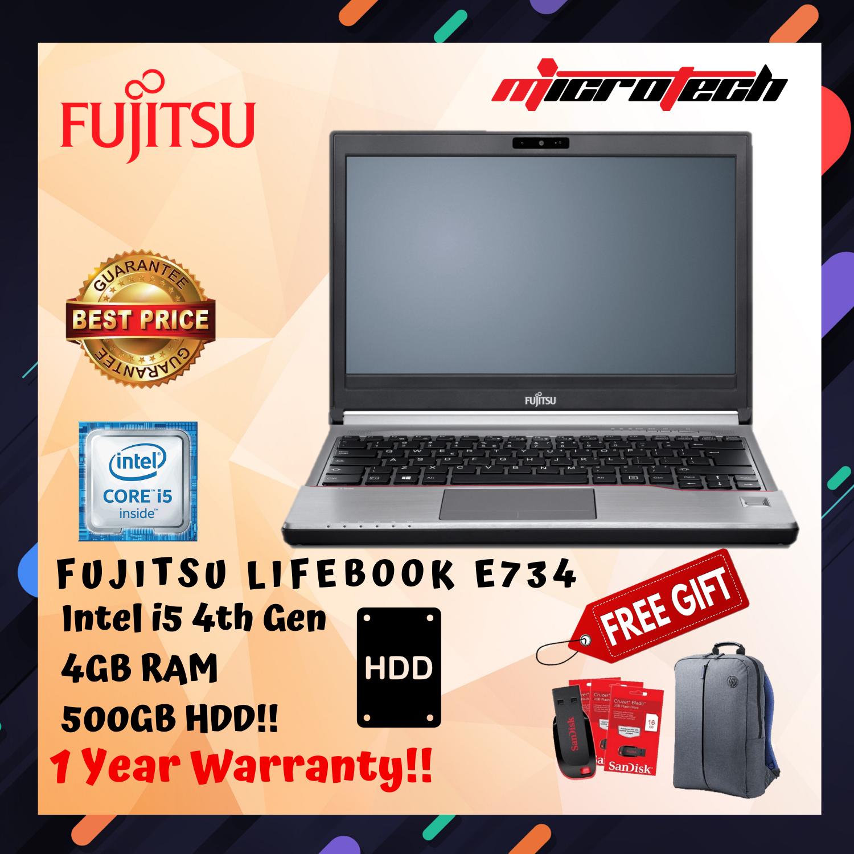 FUJITSU LIFEBOOK E734 INTEL CORE i5 4200M 4GB RAM 500GB HDD WITH 1 YEAR WARRANTY Malaysia