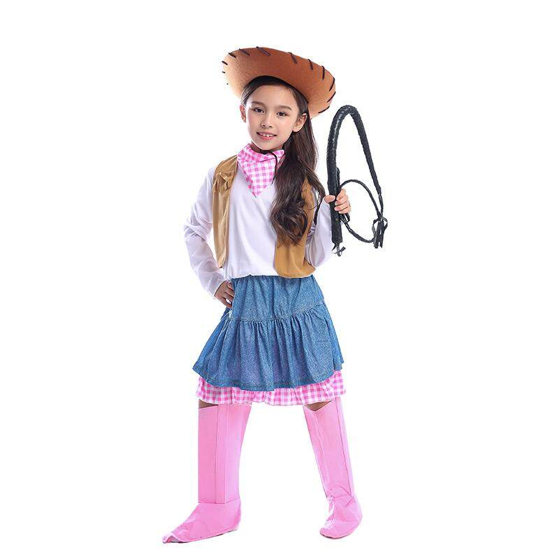 Child Cowgirl Wild West Adventure Costume Sweetie Girls Fancy-Dress Participate In A Western Group or Family Themed Party