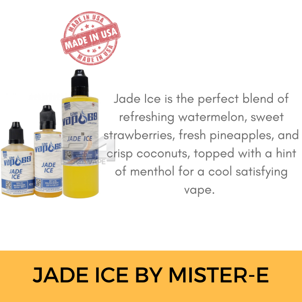 AUTHENTIC THEVAPE69 MISTER E-LIQUID JADE ICE 30ML 65ML 135ML 6 9 12 18 24 E-JUICES VAPE 0MG Malaysia