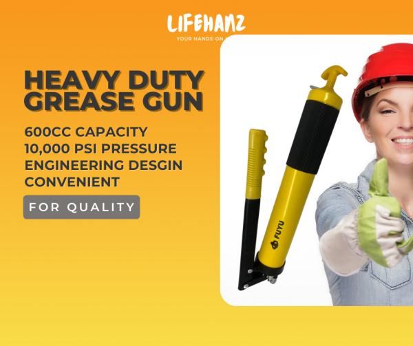 Grease Gun Heavy Duty - 600cc and 10,000 psi High Pressure