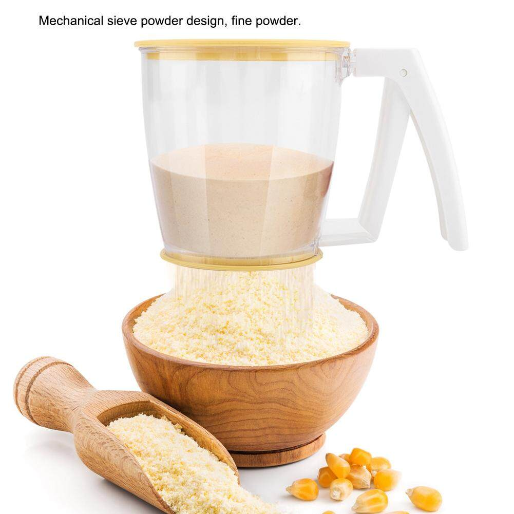 Hand-held Cup Flour Sifter Strainer Powder Mesh Sieve Baking Supplies Tools  with Lid