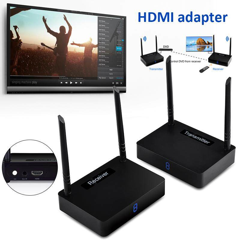 Universal HDMI Receiver 1080P 5.8GHz Wireless 350M Digital Display HDTV PC Video Computers HDMI Transmitter Movie Home Theater Wireless Transmission Kit Blu-Ray DVDs