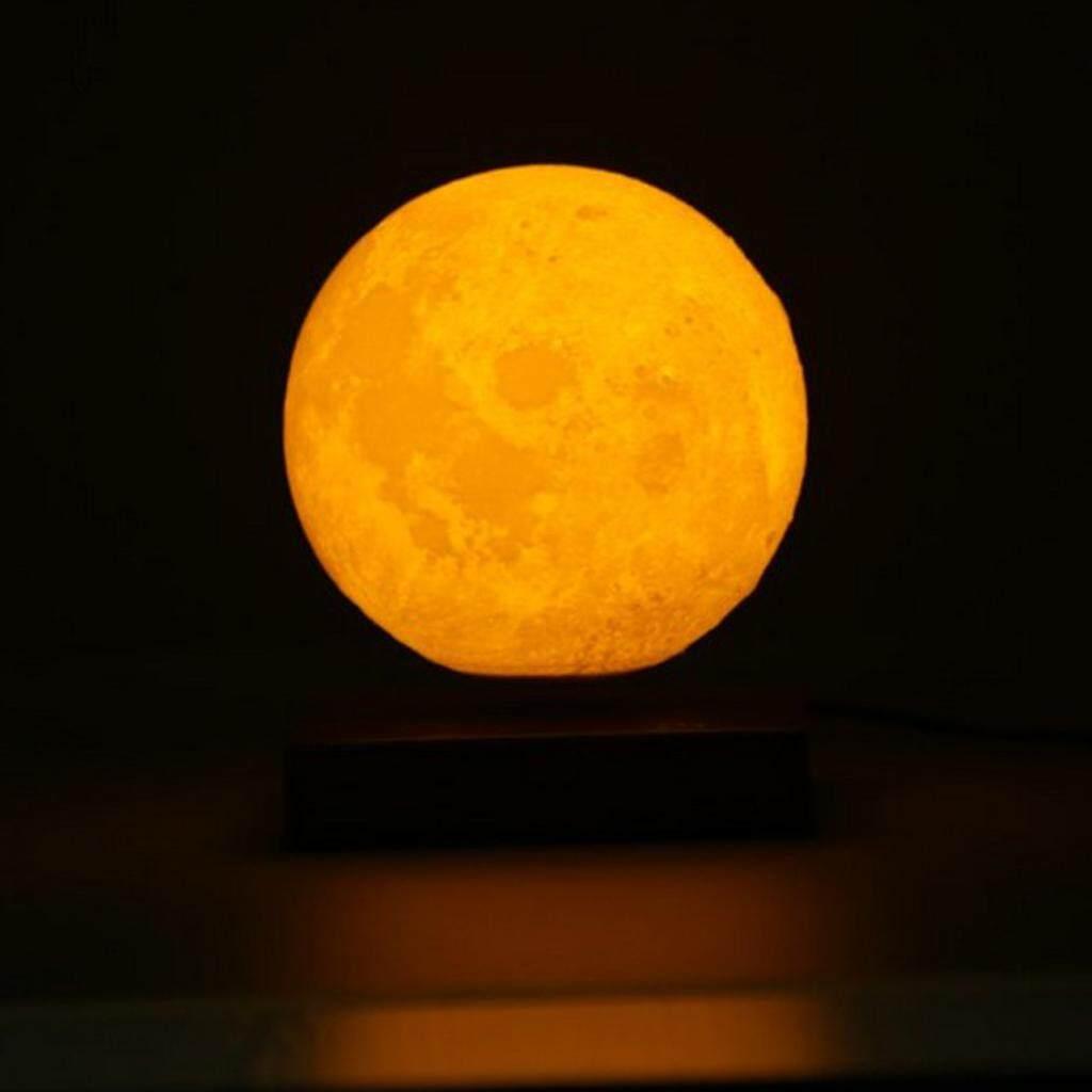 Perfk 3D Printing Magnetic Levitation Touch Sensor Moon Lamp Night Light UK Plug