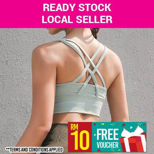 264648adb0  LOCAL DELIVERY  ANNE Women Activewear Breathable Strappy Wireless Sports  Bra or Bralette for Yoga