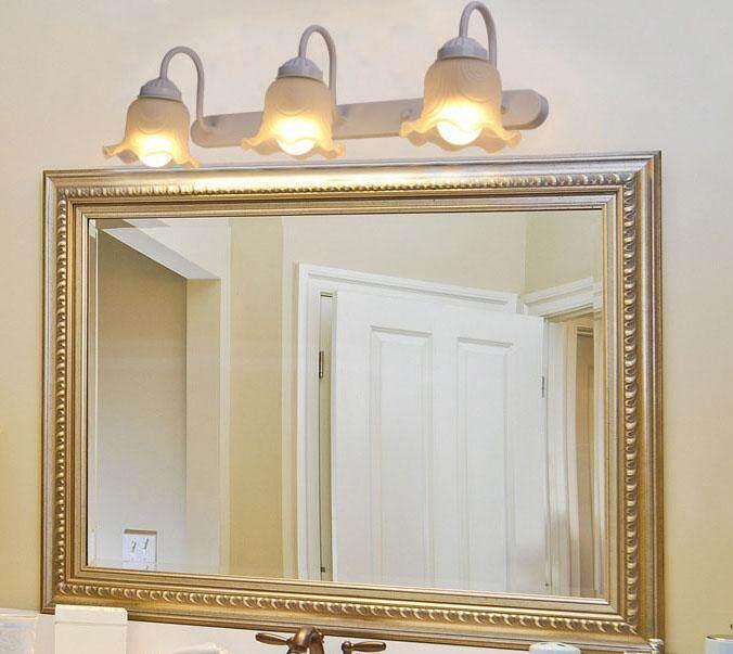 Bathroom Mirror Headlights Led Waterproof Anti-fog American Pastoral Sink Bathroom Wash Basin Lamps European Minimalist 57*5*19cm