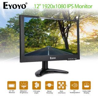 EYOYO Loa Kép Tích Hợp Đầu Vào USB VGA HD BNC AV Màn Hình IPS 12 Inch 1920X1080 Cho Máy Vi Tính Camera An Ninh DVR CCTV thumbnail