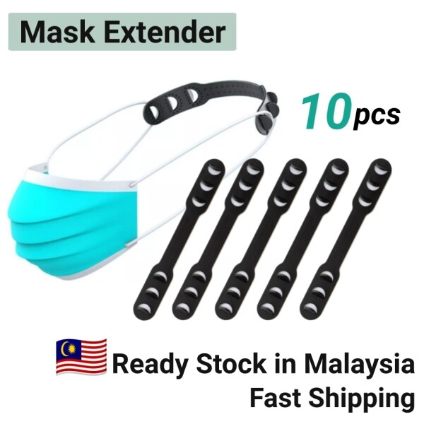 [Ready Stock] Face Mask Ear Hook Mask Extension Strap Face Mask Extender Mask Buckle Ear Painless When Wearing Mask Ear Protector Anti Ear Pain Non-Slip Design Strap 3 Levels Adjustable