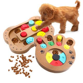 Đồ Chơi Giải Đố Chó Cưng Đa Năng Gỗ Trung Chuyển, Đồ Chơi Huấn Luyện Chó IQ, Hộp Giải Đố Tương Tác Cho Ăn Chậm Giáo Dục thumbnail