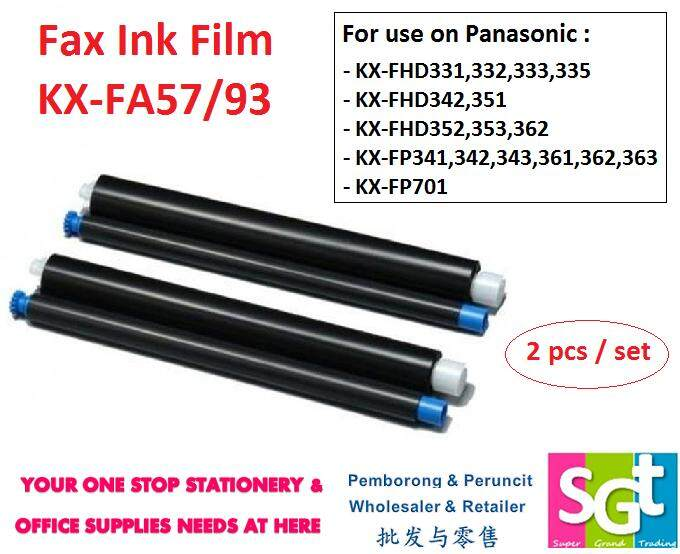Fax Ink Film Kx-Fa57/93 By Super Grand Trading.