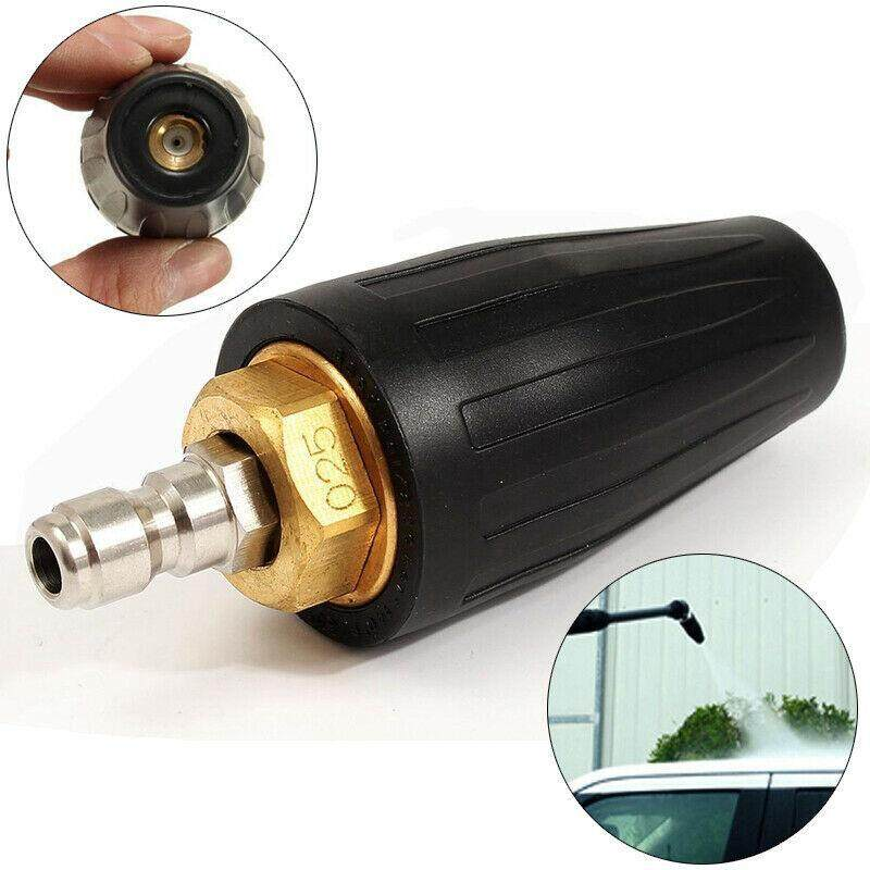 1/4 Áp Lực Cao Máy Quay Turbo Vòi Phun 2.5 GPM 3600PS