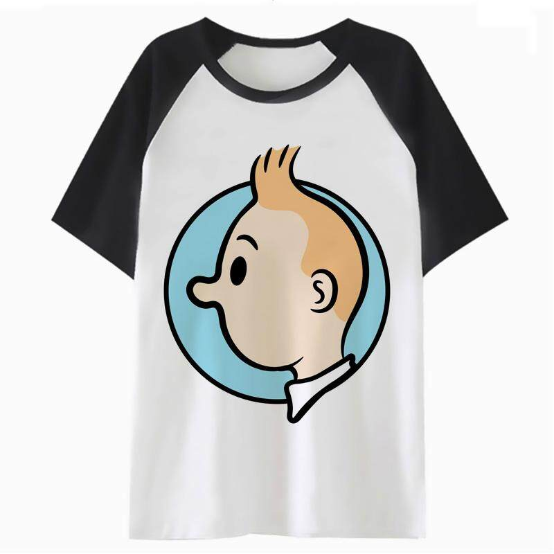 c473f7eb Tintin t shirt female t-shirt aesthetic white streetwear women harajuku tees  kawaii tshirt graphic