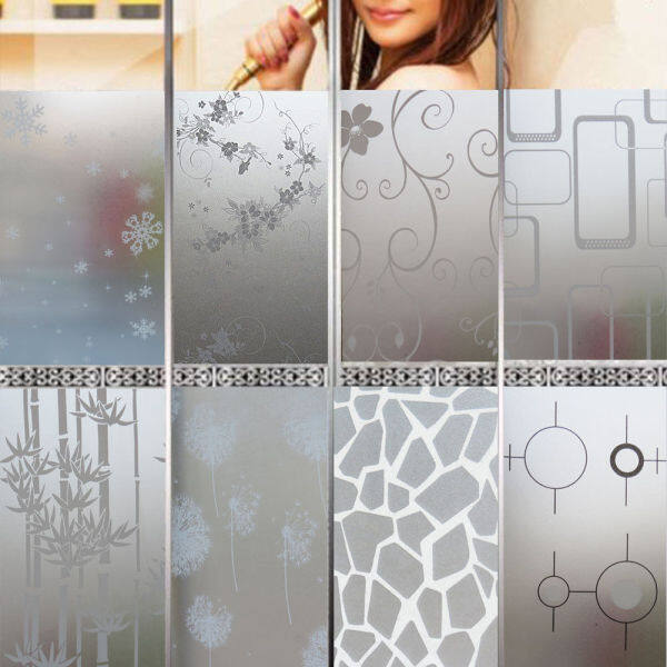 200CMX45cm Frosted Window Film No Glue Self Adhesive Vinyl Static Cling Privacy Glass Door Sticker Bathroom For Home Decor