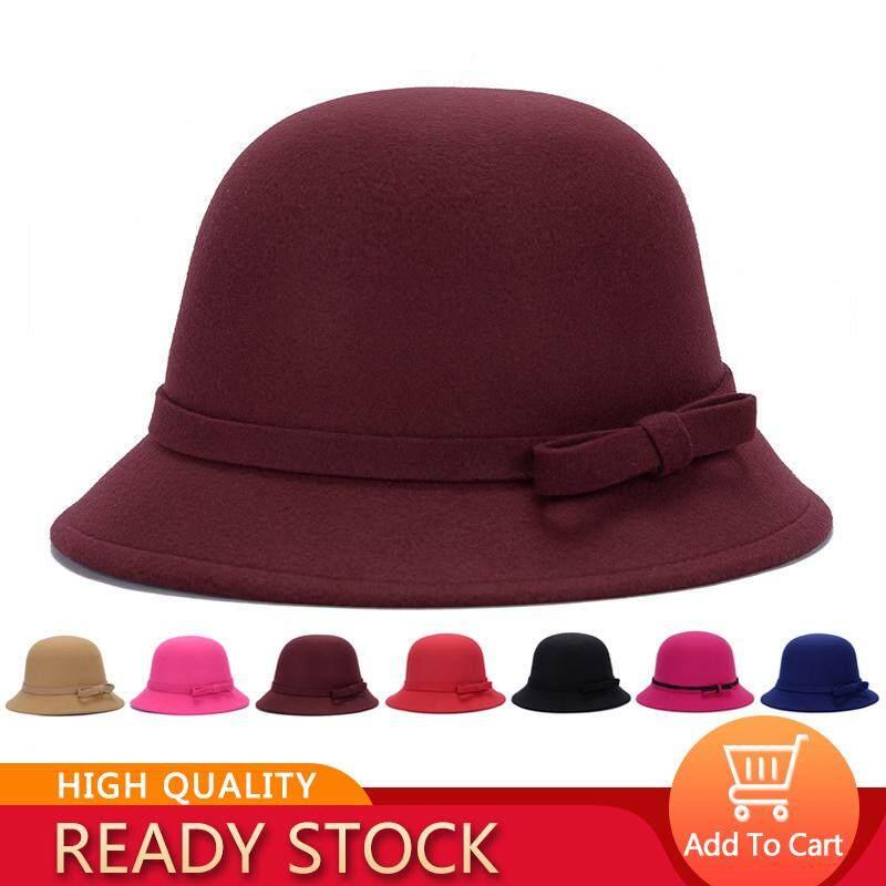 ad0e7cdb156 QQ Korean popular for women hat autumn and winter warm hats fashion elegant  strip bow hat