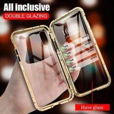 Đôi Kính 2 Mặt Nam Châm Dành Cho iPhone 6 6S 7 8 Plus Kim Loại Từ Hấp Phụ Ốp Lưng Ốp Lưng Full Protection funda Cho Iphone X XR XS Max