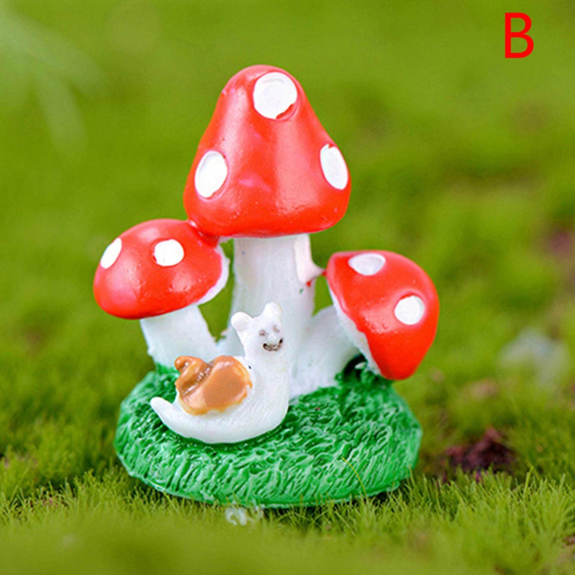 Diy Mini Miniature Fairy Garden Ornament Decor Pot Craft Mushroom Accessories