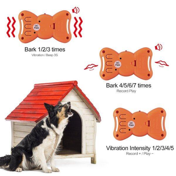 Hình Nơ Bằng Giọng Nói ABS Chó Sủa Vòng Cổ Huấn Luyện Chó Sủa Với Các Lệnh Âm Thanh Tùy Chỉnh & Dây Đeo Bằng Nylon