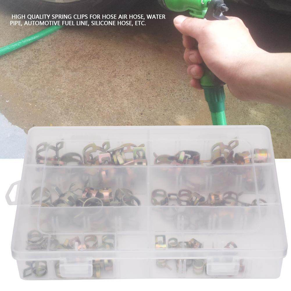 72pcs/box Spring Clips Hose Spring Clip Water Pipe Air Tube Clamp Fastener Assortment Set Spring Clips, Hose Clamp, Hose Clips, Hose Fastener, Pipe Cl