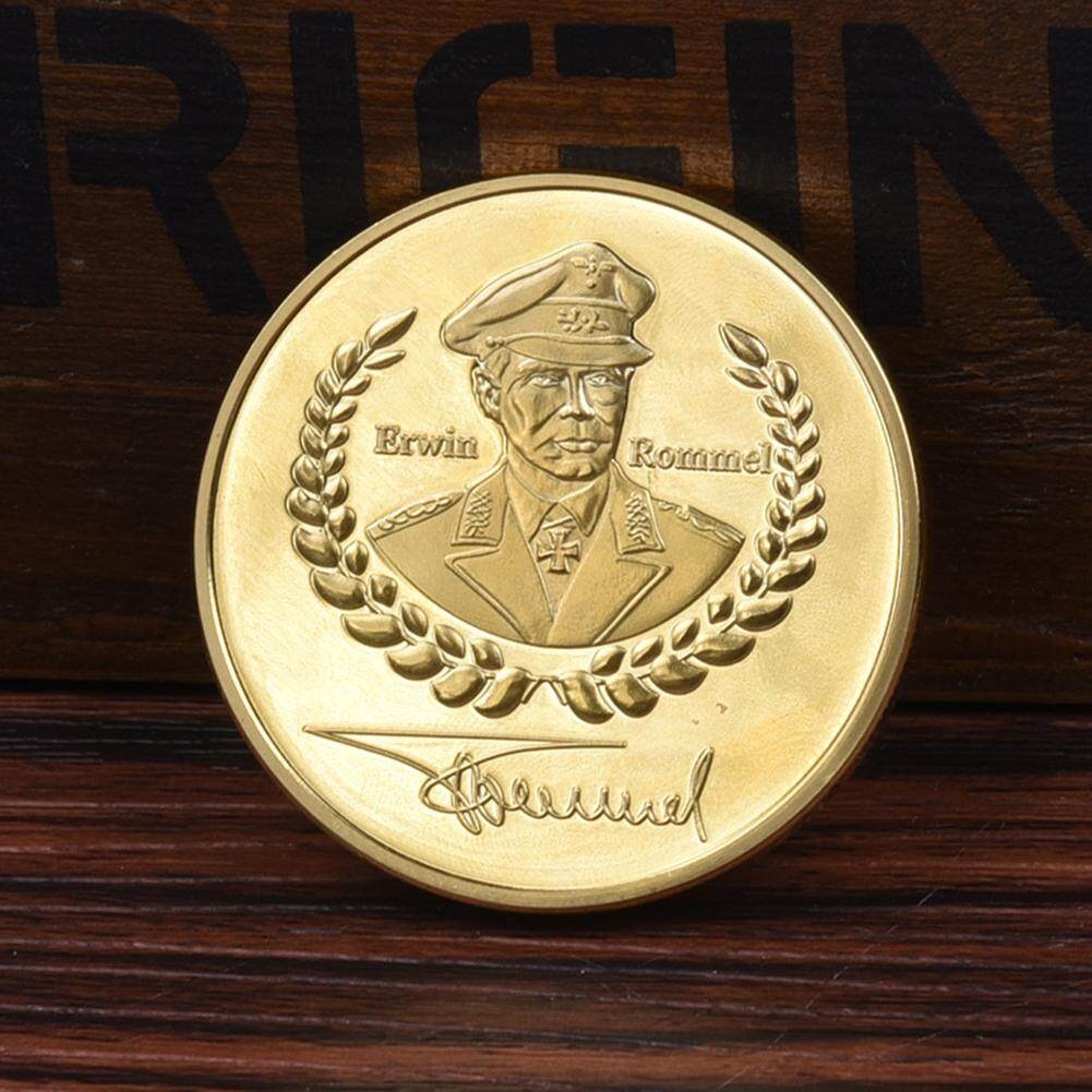 1pc European Style War Ii Deutsche Wehrmacht Desert Fox Erwin Rommel Gold Commemorative Coin Art Collection Gold Coins Gifts By Happy Sunshine.