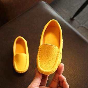 มาใหม่ล่าสุดด้านล่างที่อ่อนนุ่มเด็กเด็กหญิงกีฬาลำลองรองเท้าหนัง FZTZ0016-