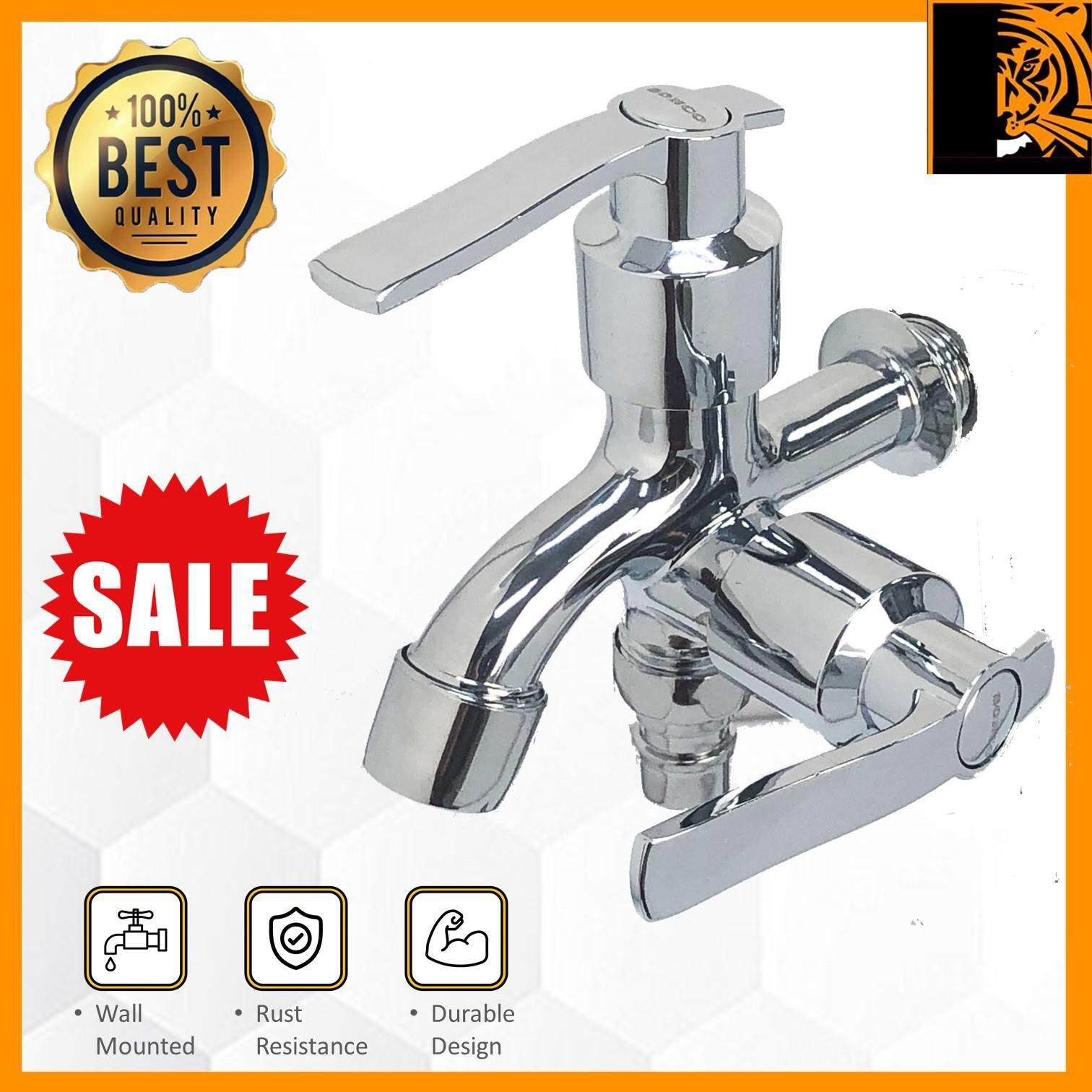 SONCO Washing Machine/Bathroom Two Way Wall Mounted Faucet Two Way Water Tap