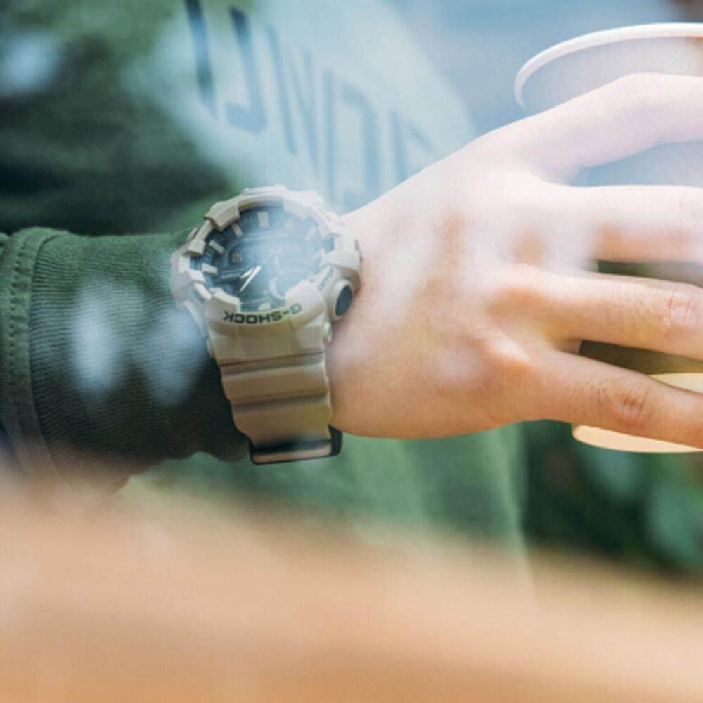 นครพนม 【 STOCK】Original _ Casio_G-Shock GA700 Duo W/เวลา 200M กันน้ำกันกระแทกและกันน้ำโลกนาฬิกากีฬาไฟแอลอีดีอัตโนมัติ Wist นาฬิกากีฬาสำหรับ MenGreen GA-700UC-5A