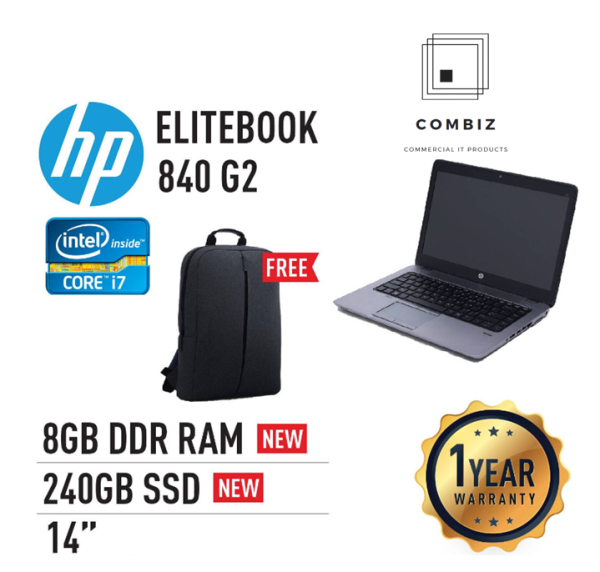 HP Elitebook 840 G2 - 14 / Core I5 / I7-5th Laptop (Refurbished) Malaysia
