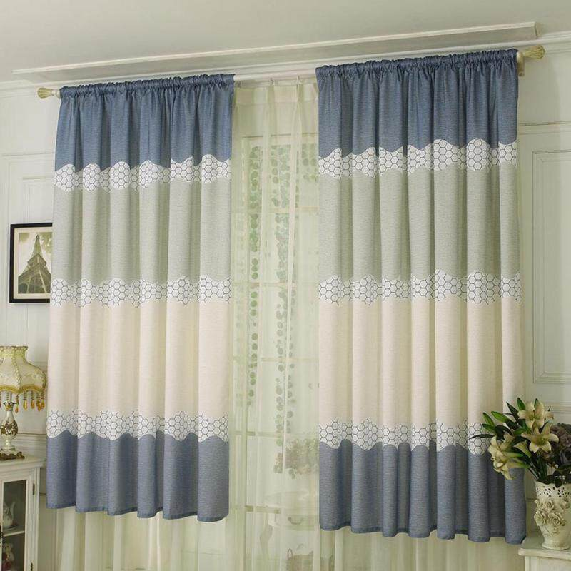 〔questionno〕Wide Strip Half Shading Curtain Bedroom Living Room Semi Blackout Purdah(READY STOCK & COD & LOW PRICE & HIGH QUALITY)