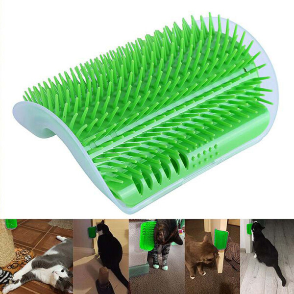Sản Phẩm Dành Cho Thú Cưng Dành Cho Mèo Bàn Chải Góc Mèo Massage Tự Chải Lông Bàn Chải Với Catnip Mèo Chà
