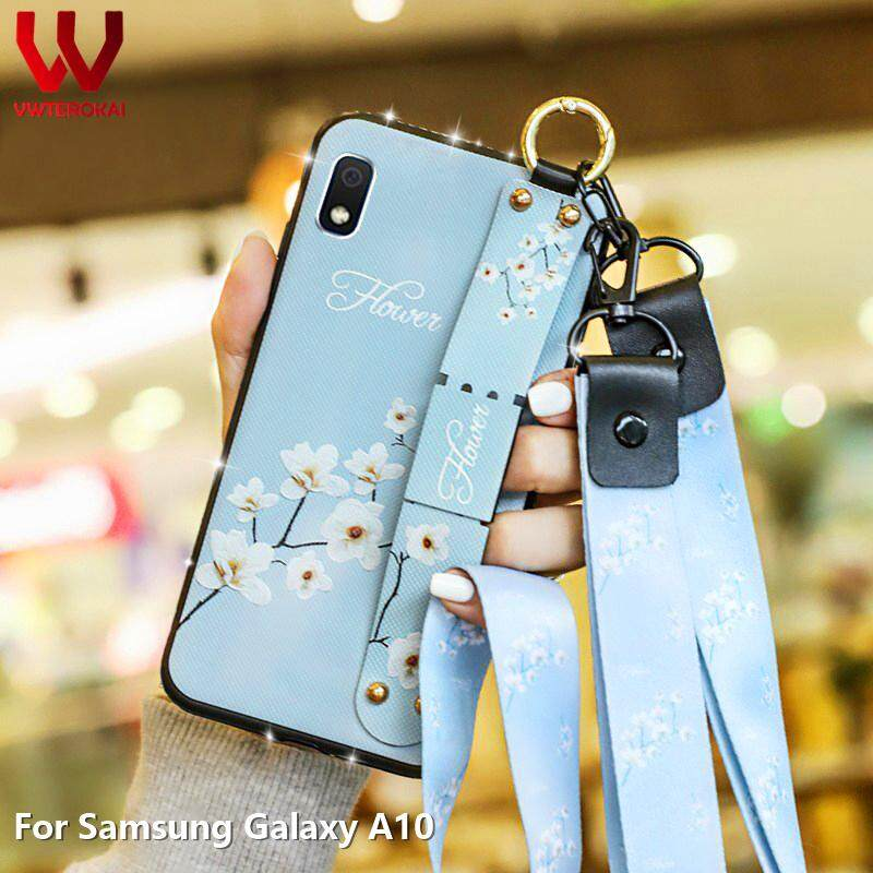 Samsung Galaxy A10 Ốp Lưng Đeo tay Thời Trang Tay Ban Nhạc Mềm Lưng Lấp Lánh Kim Cương Dây Dành Cho Samsung Galaxy Samsung Galaxy A10 Điện Thoại ốp lưng