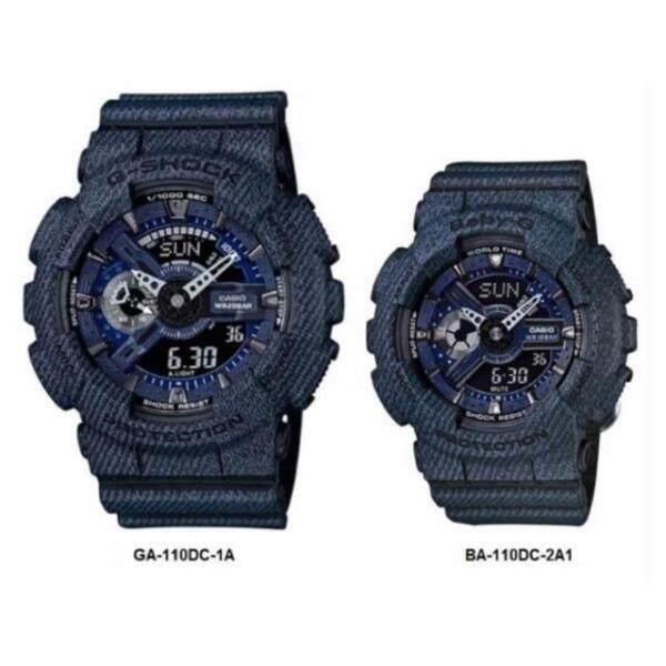 CASI0_G_Shock Dark Jeans 2 TIME Couple Watch Malaysia