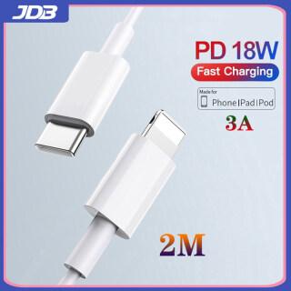 Cáp Sạc Nhanh JDB 2M 18W PD, Cáp Chiếu Sáng Cho iPhone 12 11 Pro Xs Max X 8 6 USB Type C Cáp Sạc Dây Dữ Liệu iPad thumbnail