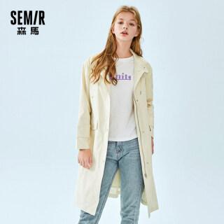 SEMIR Dài Trench Phụ Nữ 2020 Stand-Up Cổ Áo Dài Áo Choàng Phụ Nữ Outwear Cho Mùa Thu thumbnail