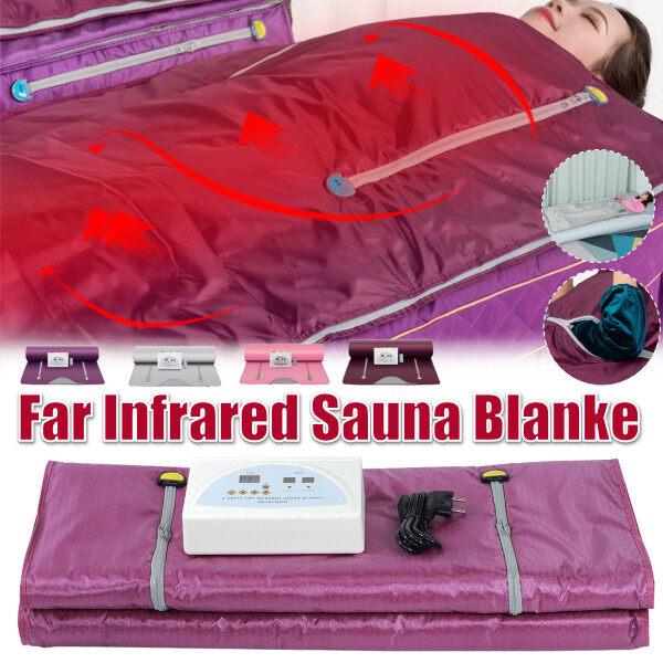 Buy Silver EU-Plug Sauna Blanket Far Infrared Shaper Spa Weight Loss Detox Slimming Beauty Machine Body Singapore
