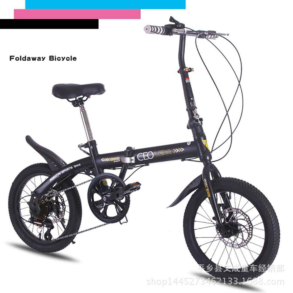 (2019 Release) Kumronmo Lightweight Foldable Bicycle Carbon Steel Car 16 Inch Variable Speed Double Disc Brake Ultra-Light (ultralight, Ultra Light) (fold, Folding) (light Weight) Portable Cycling Bike 4 Colors By Fuyuequan Store