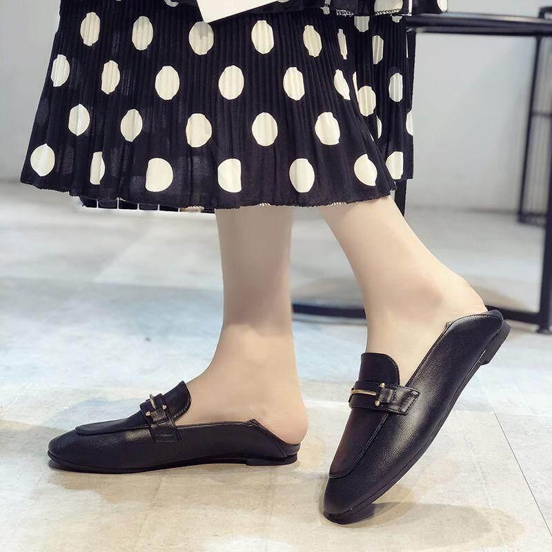 Giày Nữ, Đầu Vuông, Lefo Giày, Phụ Nữ Của Anh Nhỏ Da Giày, Đậu Giày Phẳng Đế Giày Đơn, Người Lười Giày. Giảm Cực Đã