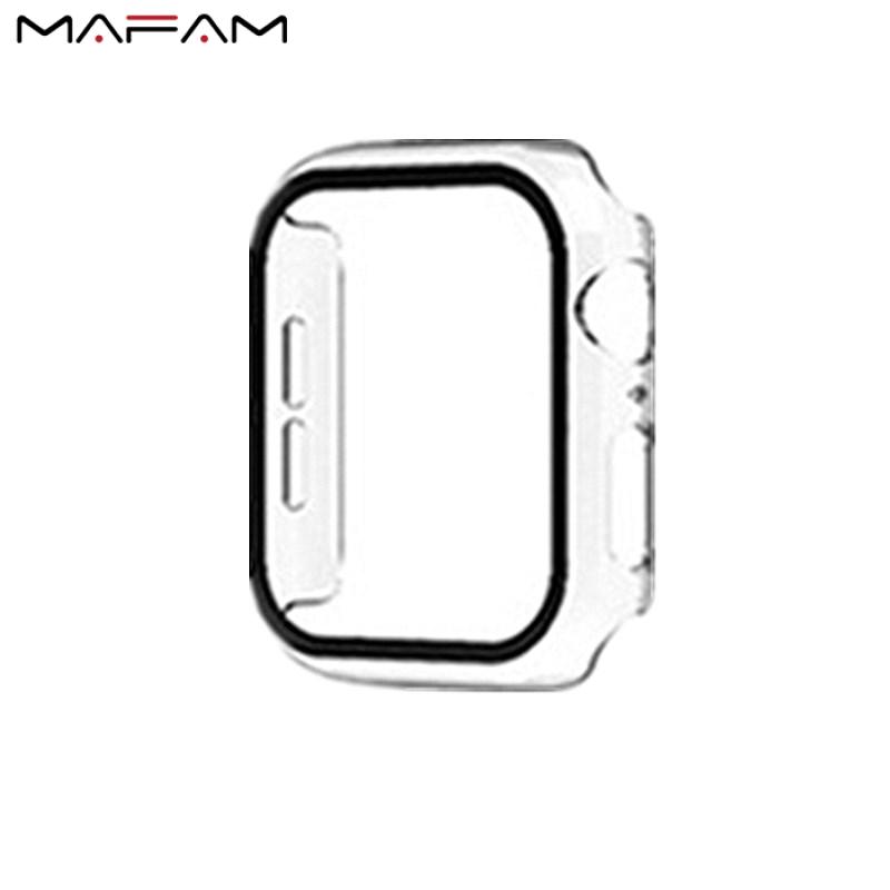 Ốp MAFAM + Kính Cường Lực Cho Apple Watch Ốp Bảo Vệ Màn Hình 40Mm 44Mm Series 5 4 Ốp Bảo Vệ Dành Cho Dòng Đồng Hồ Apple 3 2 1 38Mm 42Mm