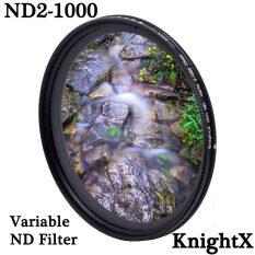 Bộ Lọc Ống Kính Camera ND2 ND1000 Biến Mật Độ Trung Tính Có Thể Điều Chỉnh, Đủ Size Dùng Cho Canon Sony Nikon, Knightx – INTL