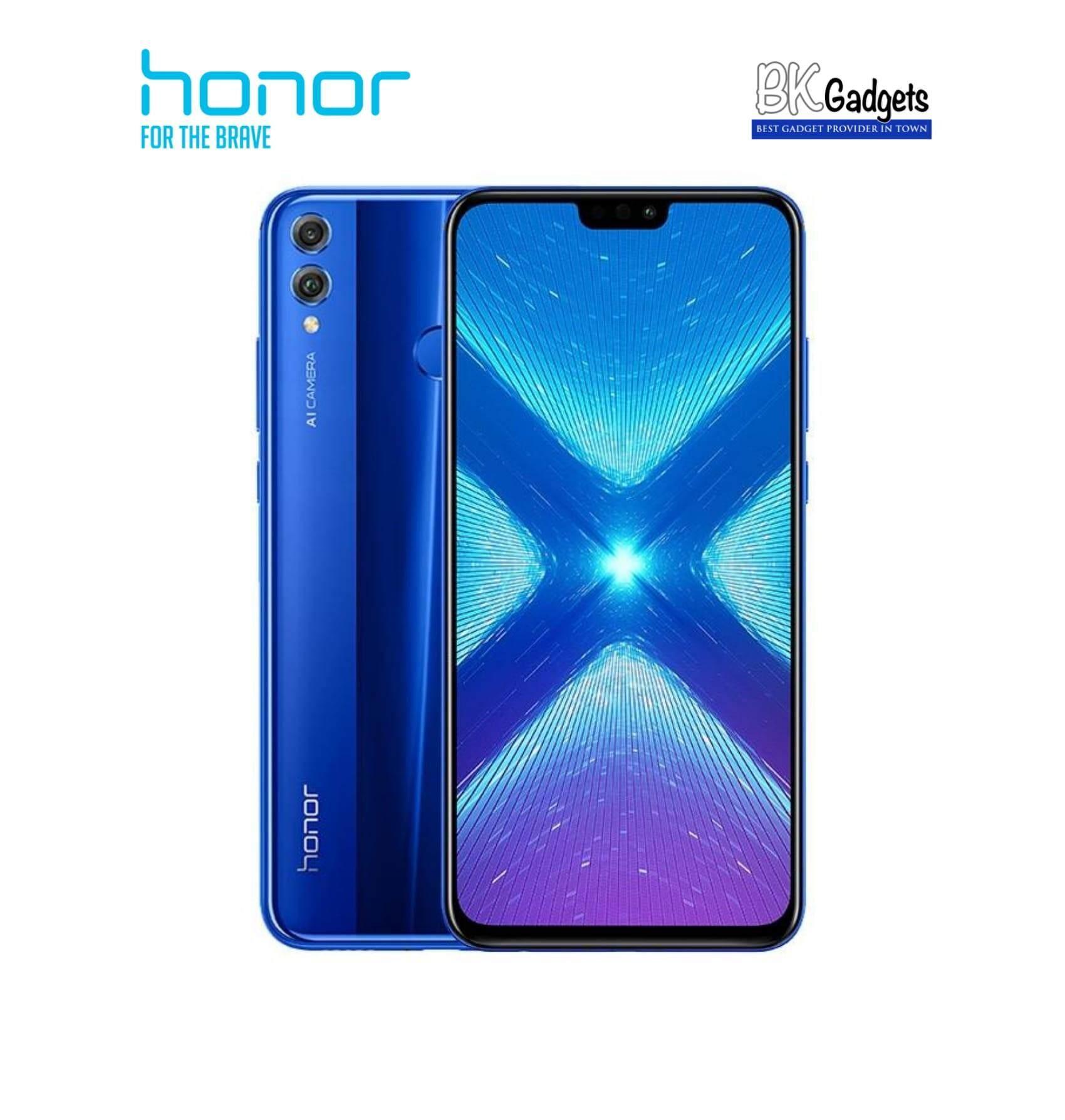 Honor 8X 4/128GB Blue- Original from Honor Malaysia 1 Year Warranty