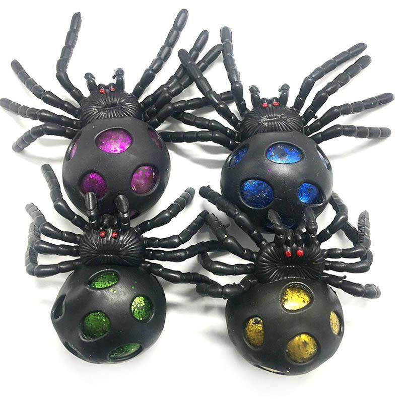 [comebuy88]Soft Rubber Simulation Spider Ball Toy Game Crazy Party Prop for Children