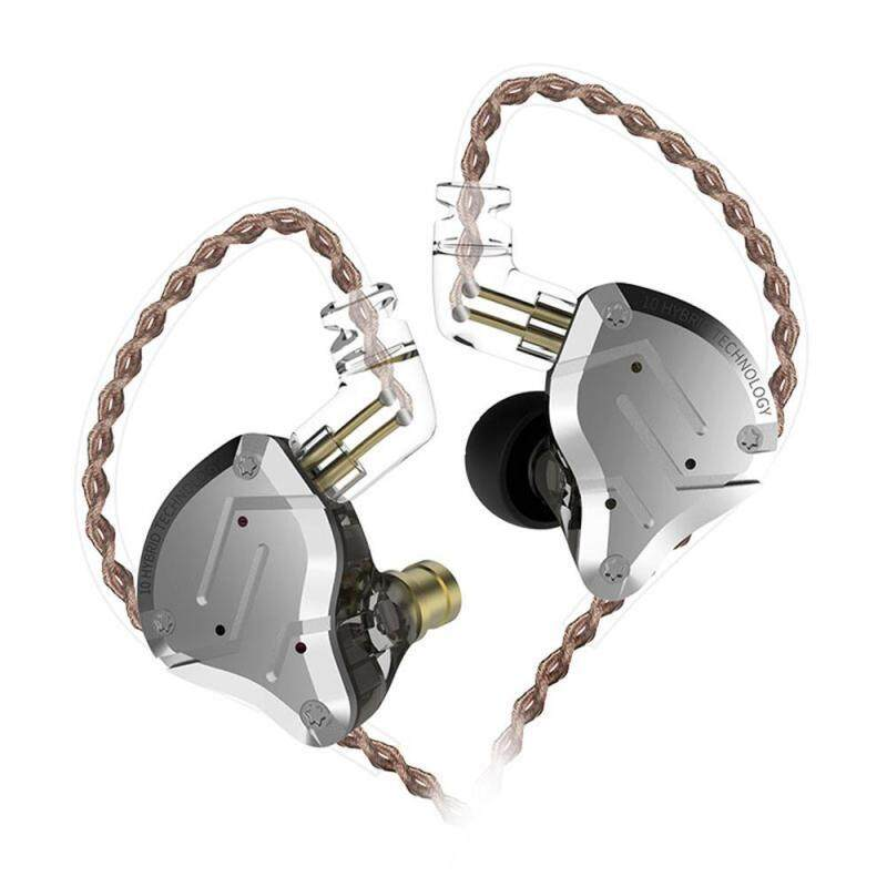niceEshop KZ ZS10 Pro in Ear Earphones, 4BA 1DD 5 Driver In-Ear HiFi Metal Earphones with Stainless Steel Faceplate, 2 Pin Detachable Cable Singapore