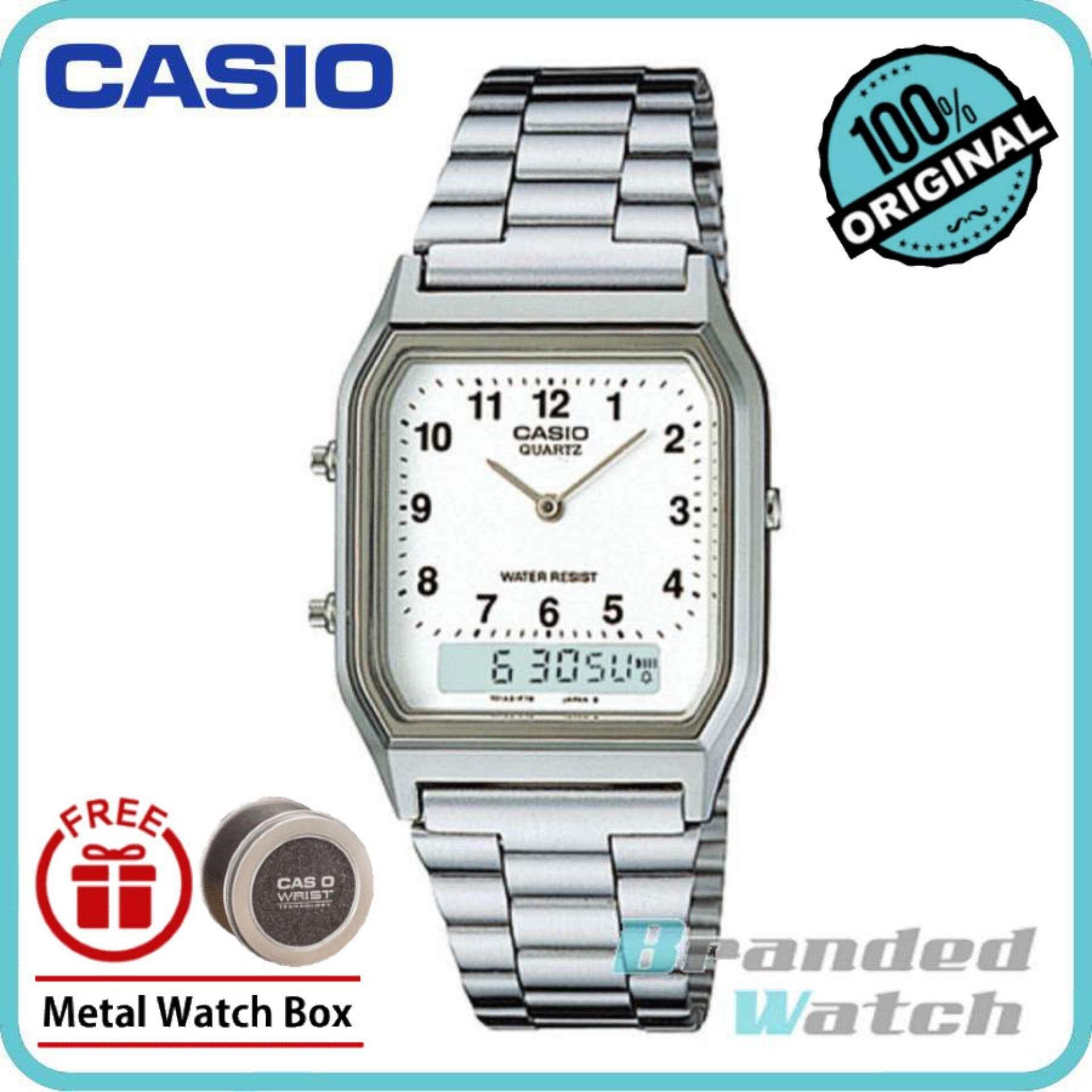 Casio AQ-230A-7BMQ Unisex Analog Digital Steel Watch AQ-230A-7B Malaysia