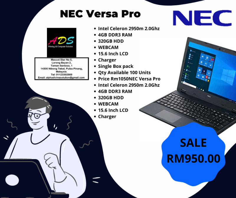 NEC LAPTOP/ BRAND NEW/ AFFORDABLE PRICE/ Malaysia