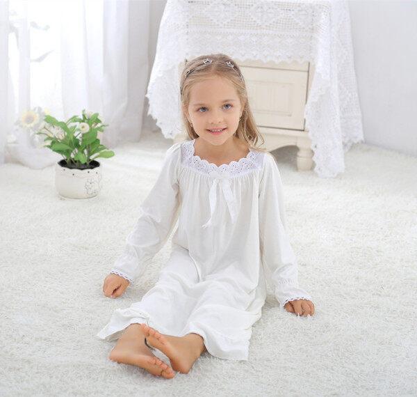 Nơi bán Childrens Clothing Girls Middle School Spring Long Sleeve Cotton Korean Princess Nightdress Pajamas Homewear