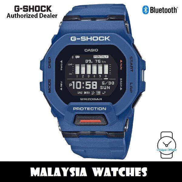 (OFFICIAL WARRANTY) Casio G-Shock GBD-200-2 G-SQUAD Digital Bluetooth Step Tracker Blue Resin Watch GBD200 GBD200-2 GBD-200-2DR Malaysia