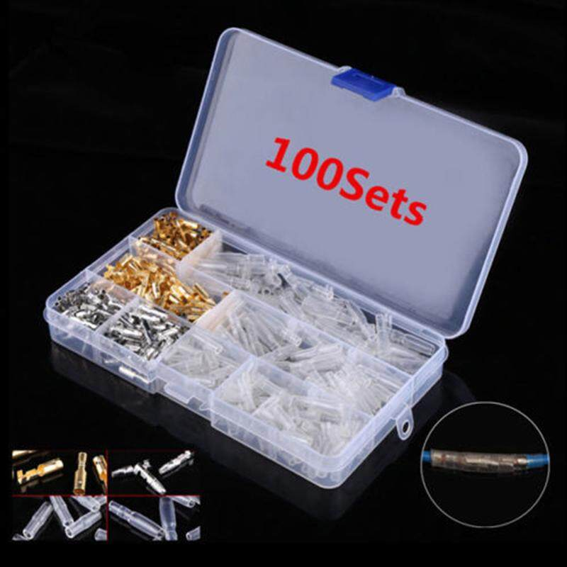 Unnicoco 400PCS 3.9mm Autos Motorcycle Brass Bullet Connectors Male&Female Wire Terminals