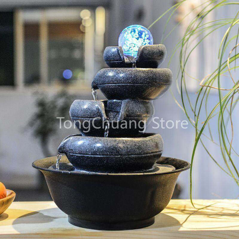 BHShop Water Fountain Indoor Tabletop 5 layers Prosperity All Around Gift Decoration Display