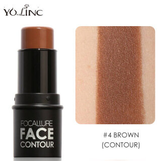 YOLINC Highlighter Contour Stick Makeup FOCALLURE Creamy Bronzer Stick 3D Face Concealer Full Cover Perfect Contour Stick Base Sticker Multi-use Face Eye Body Spotlight thumbnail