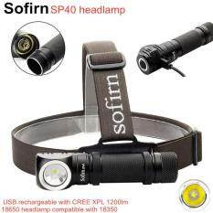 Đèn Sạc LED Đội Đầu Sofirn SP40 XPL, Đèn Flash 1200lm, Sạc USB 18650, 18350 Có Đuôi Nam Châm Chỉ Báo Điện