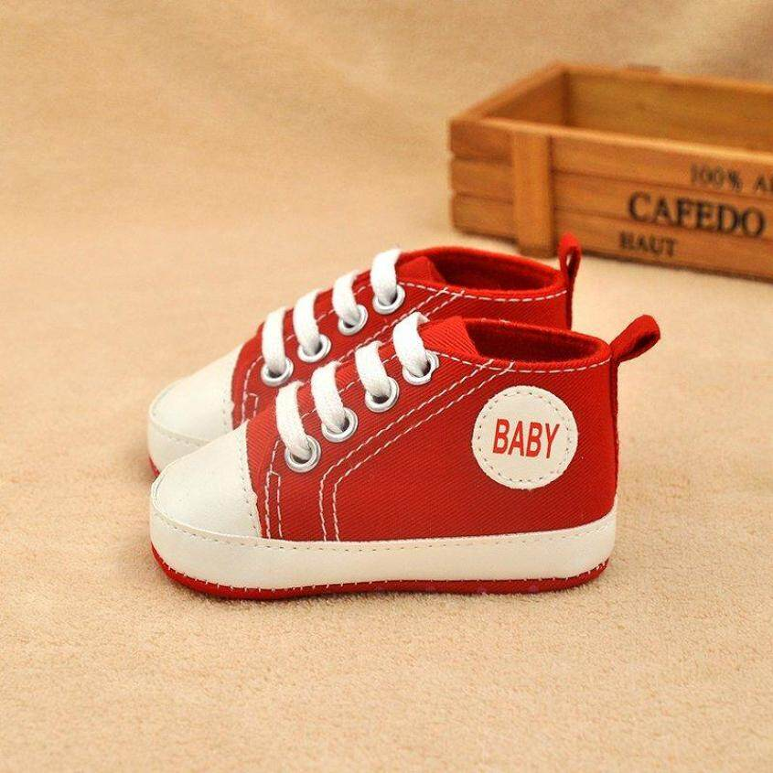 Tập đi cho Trẻ Sơ Sinh Bé Trai Bé Gái Chống trơn trượt Cũi Giày Sneaker 0-12 M giá rẻ
