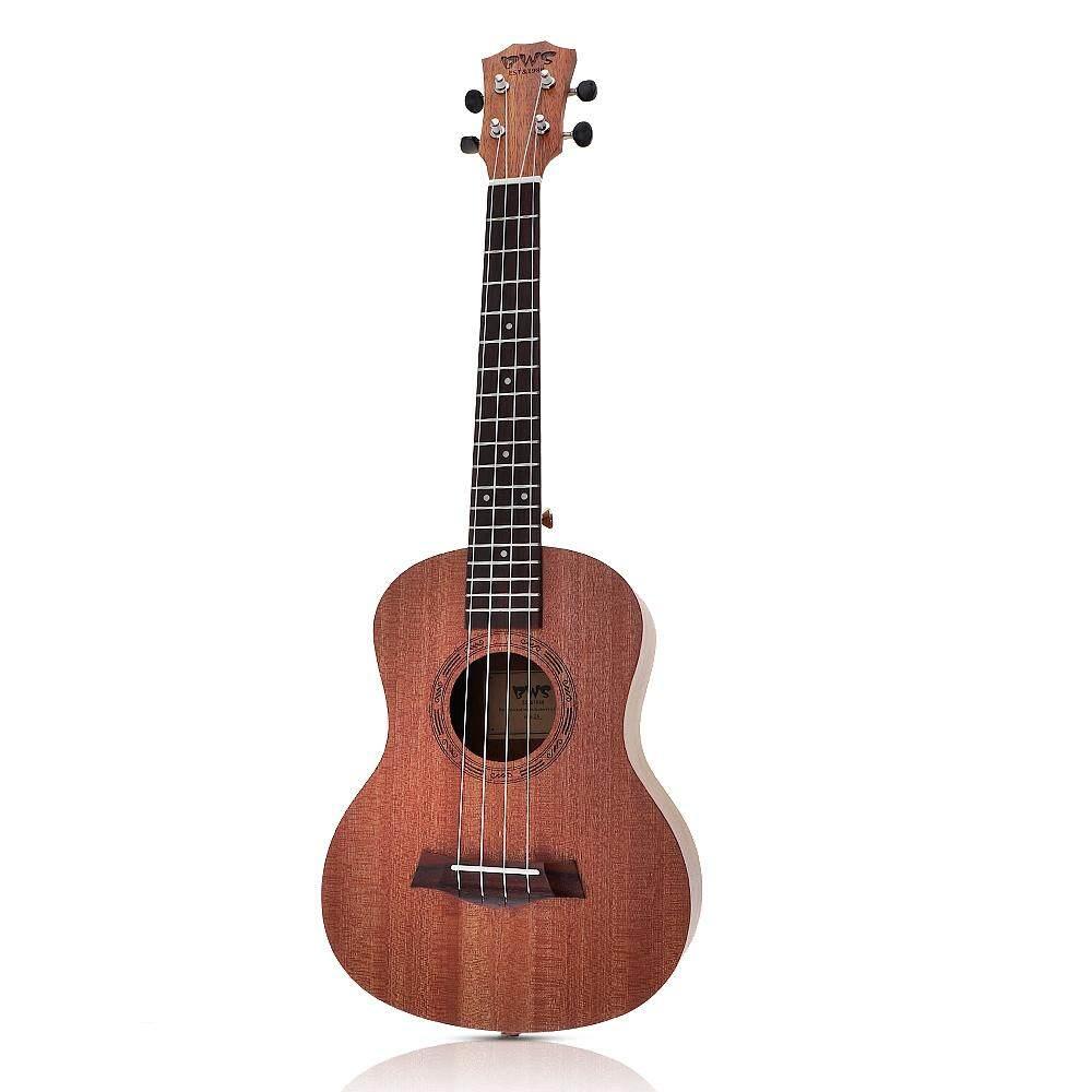 26 Inch Gỗ Mahogany 18 Phím Đàn Tenor Ukulele Âm Cutaway Đàn Guitar Gỗ Mahogany Ukelele Hawaii 4 Dây Guitarra